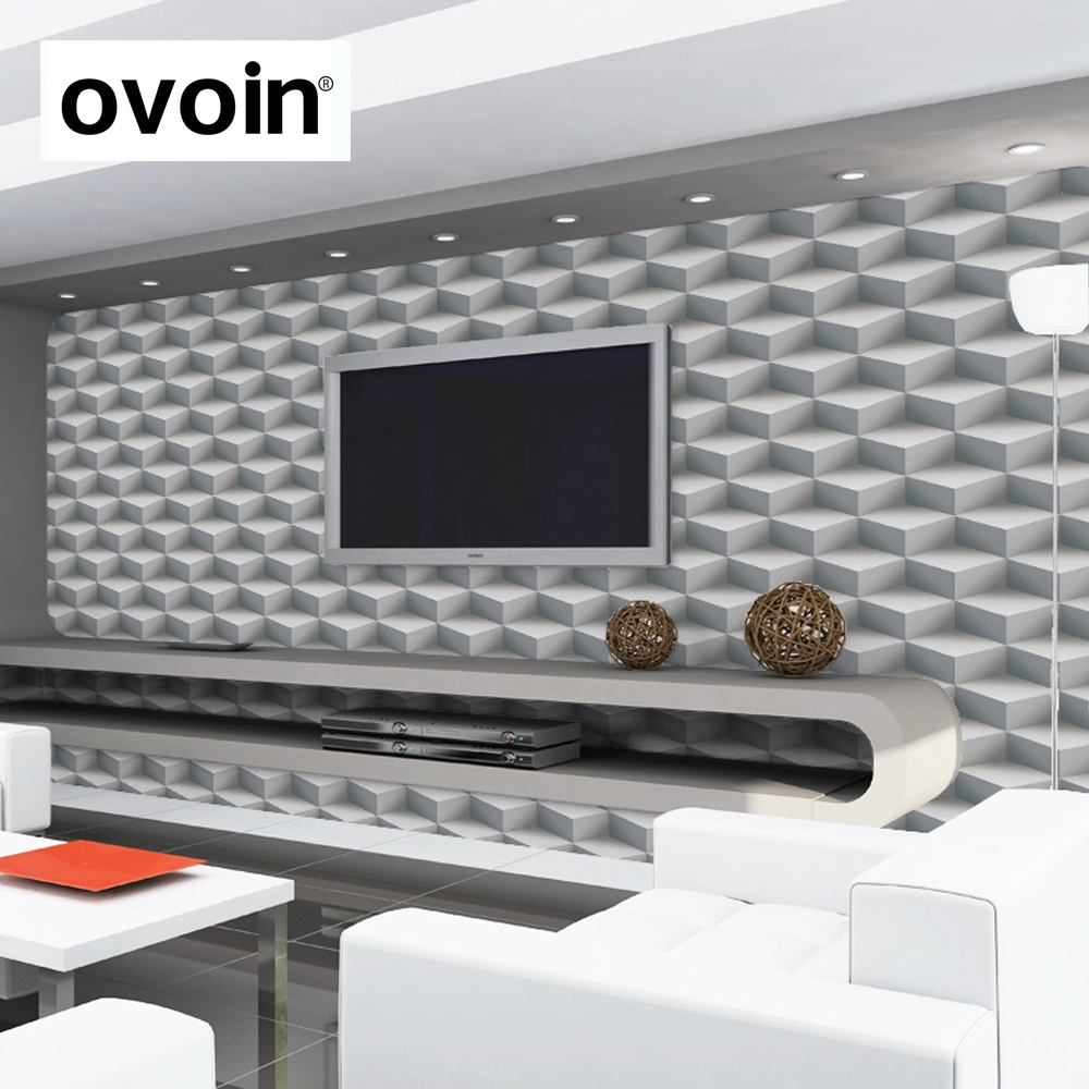 Modern 3d Wallpaper Roll Square Cube Design Wall Paper