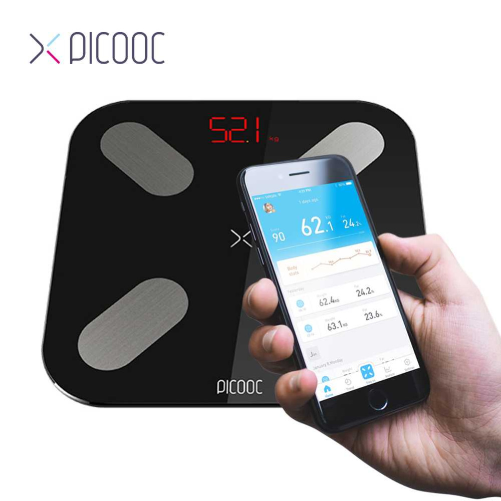 PICOOC smart weighing weight Scale Floor Digital Body Fat Scale Bluetooth Electronic Outdoor mini Smart Weighing Scales with APP floor