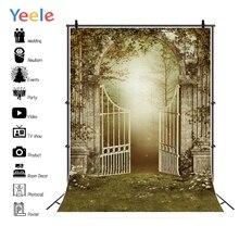 Yeele Professional Photography Backdrops Wreath Romantic Garden Landscape Wedding Door Photographic Backgrounds For Photo Studio