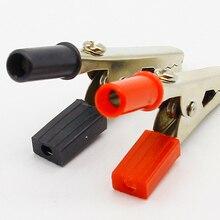 10 шт. зажимы типа крокодил изолированные пластиковые ручки кабель винт фиксации силовые терминалы электрические инструменты