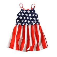 4th of July Girl Sleeveless Beach Dress