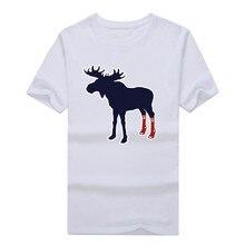 2017 Men's Tops Tees popular Sox On Moose With Socks Boston Fan T-Shirt t shirt men design mens red shirt