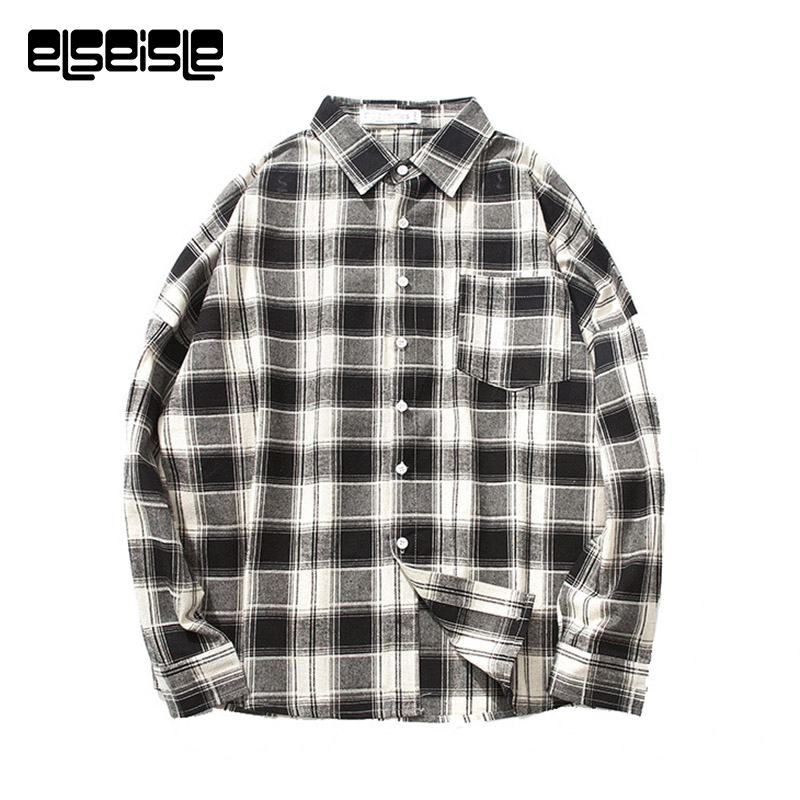 Online Buy Wholesale white and black plaid shirt men from China ...
