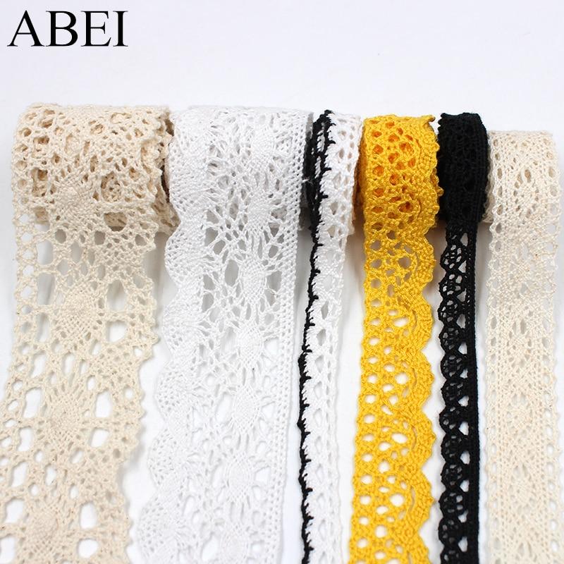 10yards/lot Quality Vintage Cotton Lace Ribbon Garment Apparel Wrap Embellishment Diy Wedding Party Crafts Scrapbooking Decors