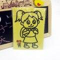 20 pçs/lote 63 Pintura Da Arte Cor Areia Cartões Definir Crianças com fundo amarelo Desenho brinquedos Educativos