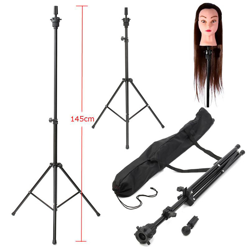 Professional 1 Set Headform Stent Prosthesis Doll Head Holder Brackets Wig Hair Model Head Tripod Bracket 998 Hair Extensions & Wigs Wig Stands