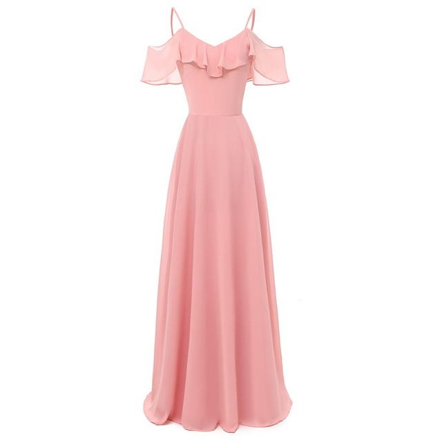 a2b6d1b729aab US $23.87 51% OFF|Sisjuly Evening Party Sweet Pink Burgundy Wine Red Dark  Blue Spaghetti Strap Maxi Dress Women Backless Ruffle Extra Long Dresses-in  ...