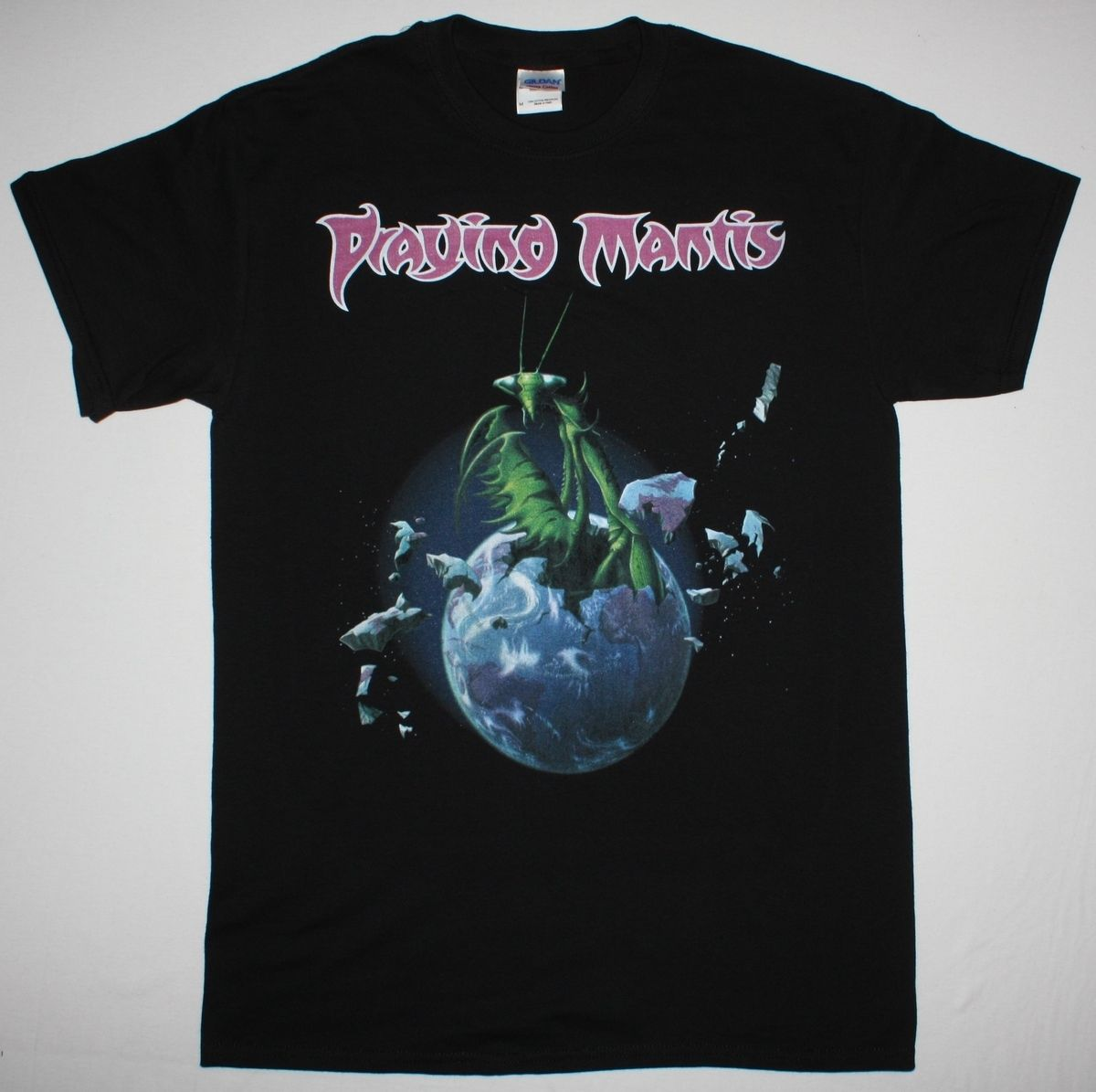 T-shirts Confident Praying Mantis S/t 80 Nwobhm Budgie Samson Aor Angel Witch New Black T-shirt 100 % Cotton T Shirt For Boy Loose Top Tee Complete In Specifications Tops & Tees