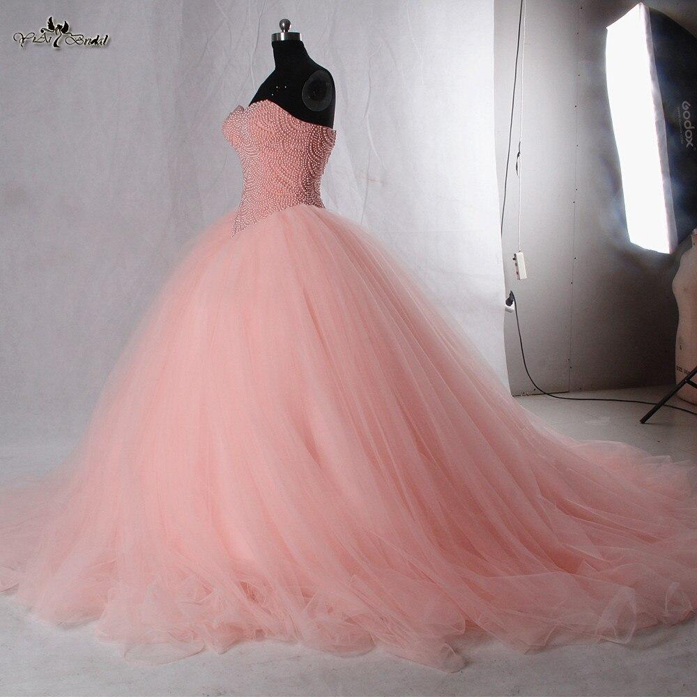 Rse942 princesa coral Vestidos de quinceañera balón vestido de ...