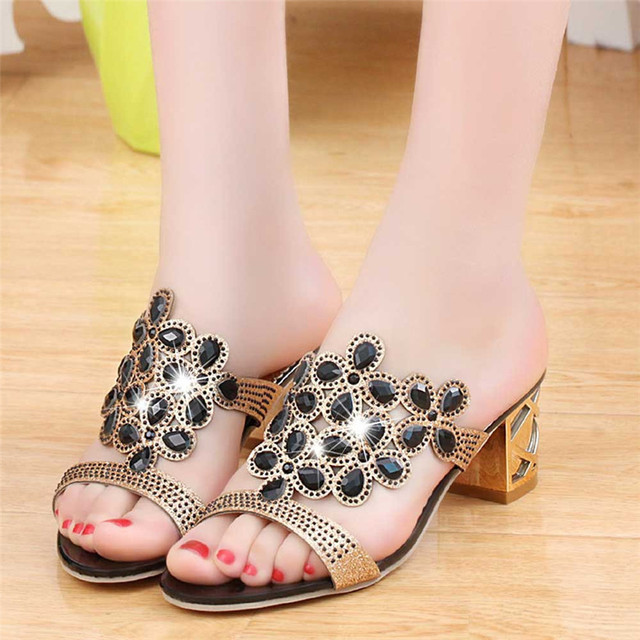 6bd1cf4fe Sagace Young Girls 2018 SUMMER Fahsion Women Flip Flops High Heel Sandals  Fat Girls Rhinestone Shoes Wholesale MAY 15