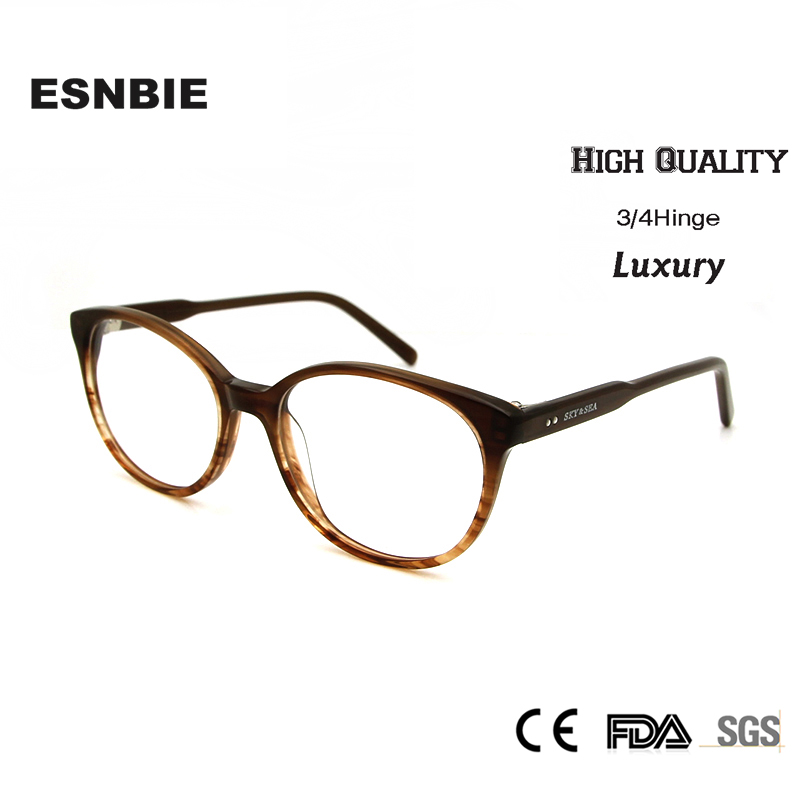 ▻ESNBIE OPTICAL High Quality Retro Round Eyeglasses Frames Women ...