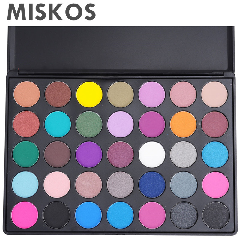 35 Color Eyeshadow Palette Makeup Eye Shadow Pigment Cosmetics Profesional Eyeshadow Pallete Maquiagem Profissional Completa eyeshadow palette make up palette shimmer nature glow 12 color eye shadow set cosmetics sombra maquiagem profissional completa