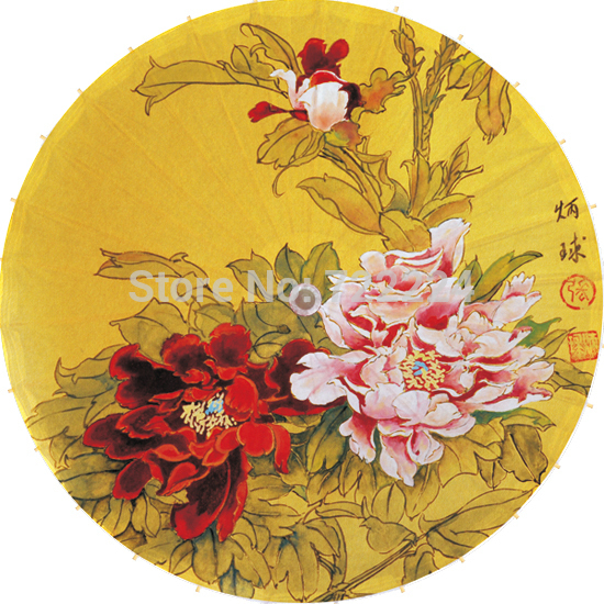 Free shipping Dia 50cm chinese peony painting umbrella antique handmade sunny and raniy collection props oiled paper umbrella dia 84cm chinese handmade red plum blossom oil paper umbrella ancient waterproof sunshade parasol decoration gift dance umbrella