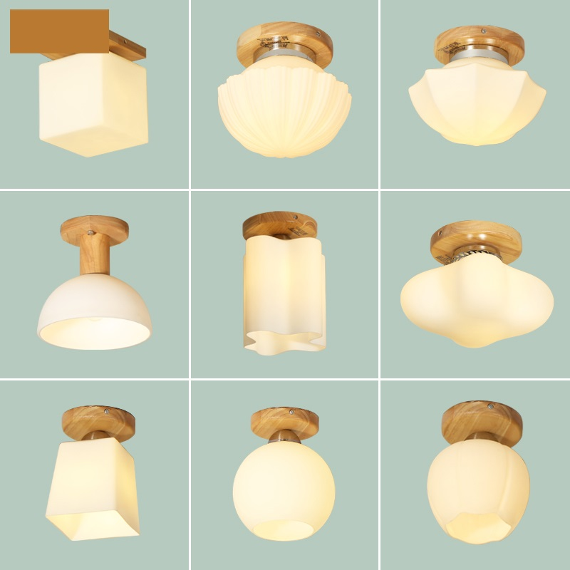 Modern Led Ceiling Lights Wood Color Ceiling Lamp for Living Room Flush Mount Indoor Lighting Bedroom Kitchen Bathroom 9 Style japanese ceiling lights washitsu tatami decor flush mount ceiling lamp e27 wood living room hallway indoor lantern lamp lighting