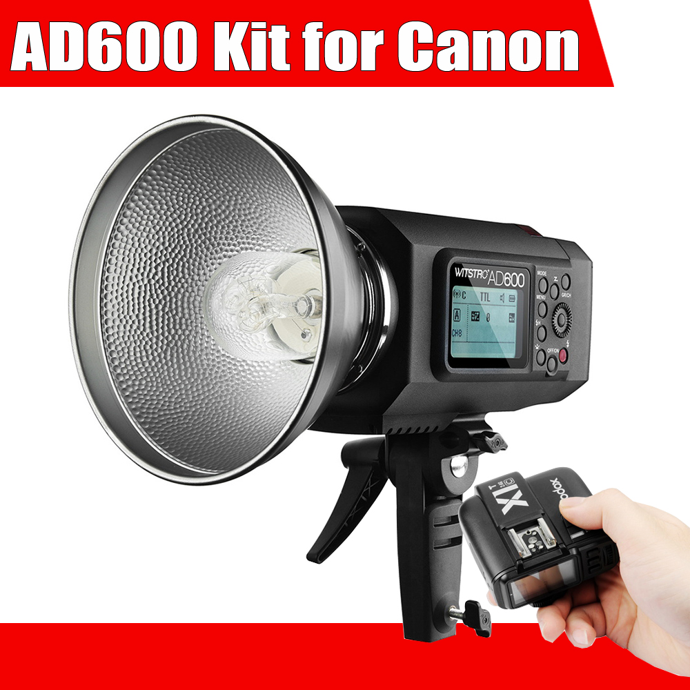 Godox AD600 High Power 600Ws TTL HSS Outdoor Flash with 2.4G X System + Godox X1C TTL Wireless Remote Flash Trigger for Canon