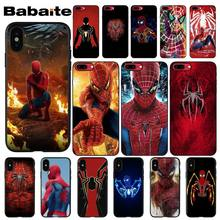 Babaite Marvel Comics Spinne Mann Homecoming Telefon Fall abdeckung Shell für iPhone 8 7 6 6S Plus 5 5S SE XR X XS MAX Coque Shell(China)