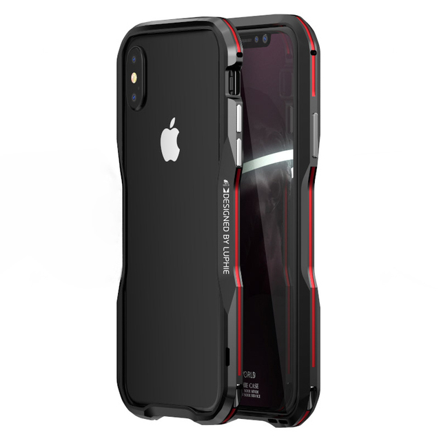 official photos 2f337 3c4ee US $12.11 30% OFF Luxury Aluminum Metal Slim Case For iPhone X Phone  Shockproof Rugged Frame Shell For Apple iPhone X Bumper Case 10 iPhonex-in  Phone ...