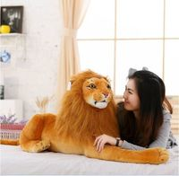 big new plush simulation lion toy lovely lying lion doll birthday gift about 90cm