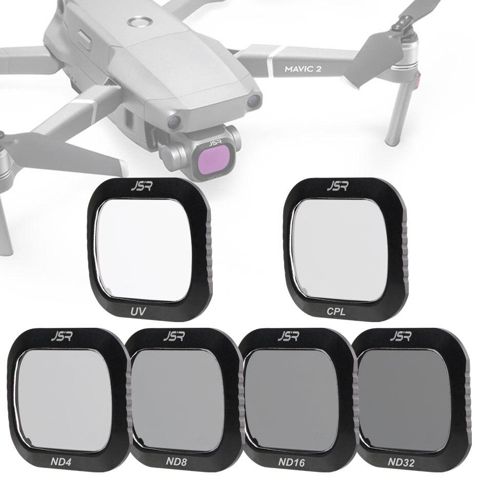 Pour DJI Mavic 2 Pro filtre UV + CPL + ND4 + ND8 + ND16 + ND32 verre polaire pour DJI Mavic2 Pro/professionnel protecteur Drone accessoires Set