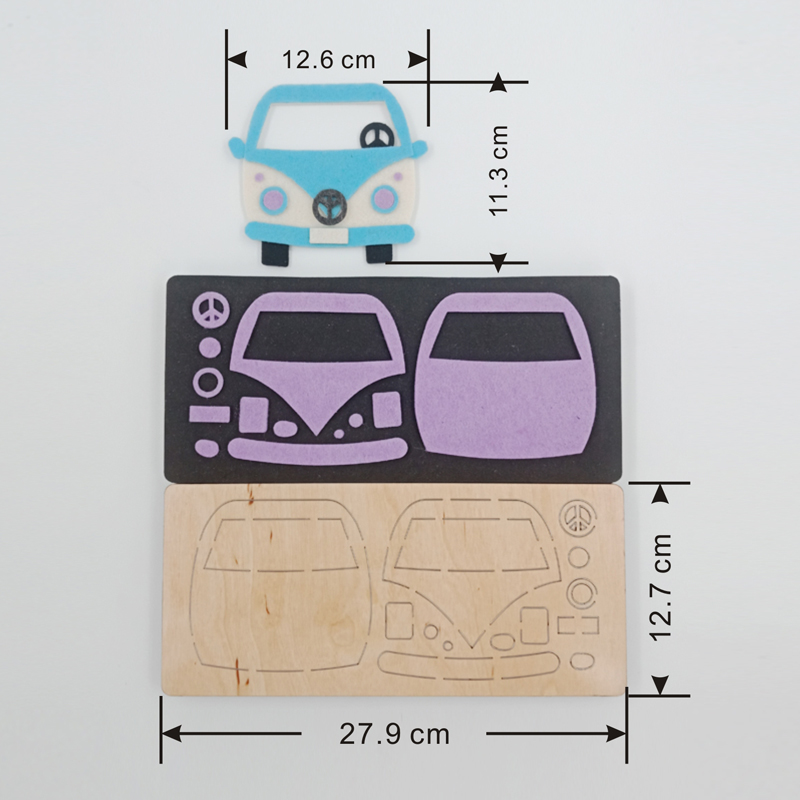 Mini Van new wooden mould cutting dies for scrapbooking Thickness 15 8mm muyu