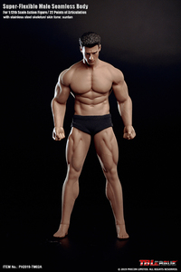 Image 5 - In Stock TBLeague 1/12 Super Flexible Male Seamless Body Action Figure With Head Sculpt TM01A /TM02A Fitness Suntan Skin