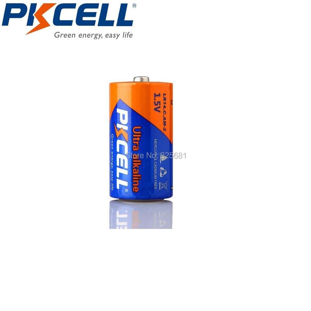 6 шт. PKCELL C LR14 батарея AM2 CMN1400 E93 супер щелочные батареи 1,5 В для детектора дыма светодиодный беспроводной электробритвы