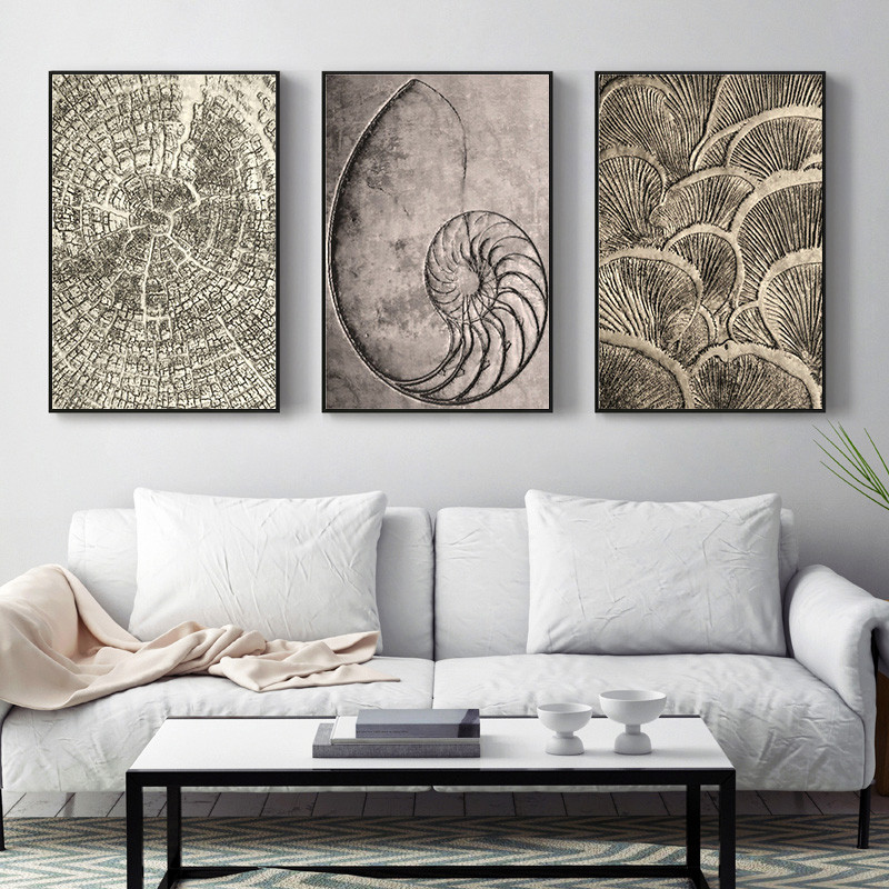 Retro Luxury Abstract Nordic Vintage Home Wall Art Decor Poster Living Room Picture Minimalist ...