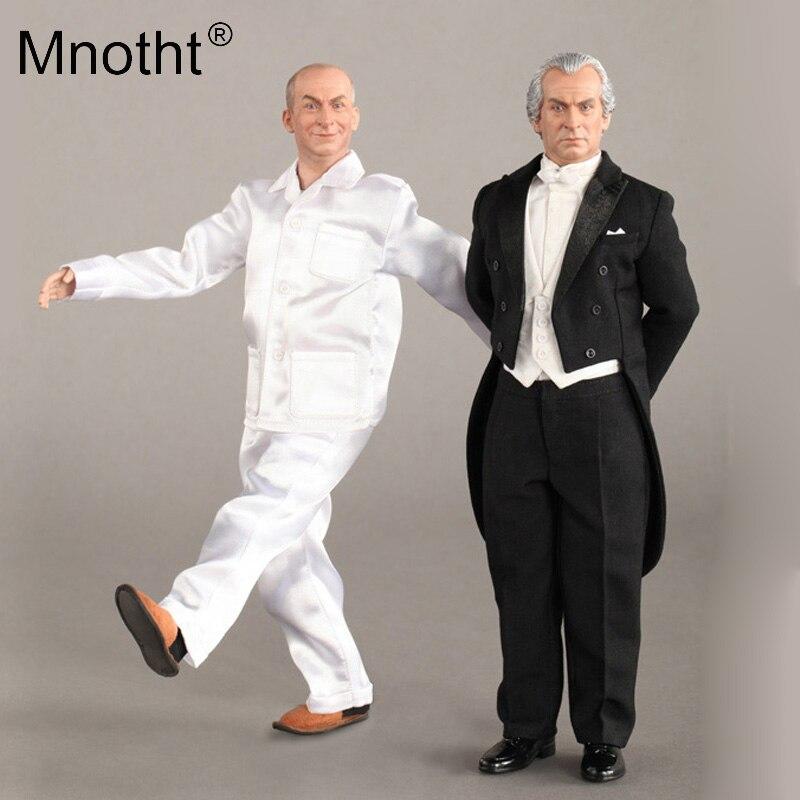 1/6 Schaal Soldaat Speelgoed Comedy Koning Van Frankrijk Dirigent Ontsnappen Tijger F80106 Action Figure Hobby Collecties M3 Jade Wit