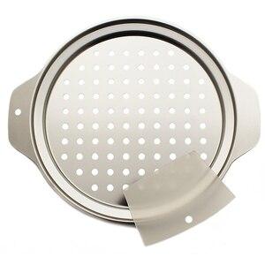 Image 2 - ステンレス鋼spaetzleメーカー蓋付きスクレーパードイツ卵麺団子メーカーホームキッチンパスタ調理ツールaccessoires
