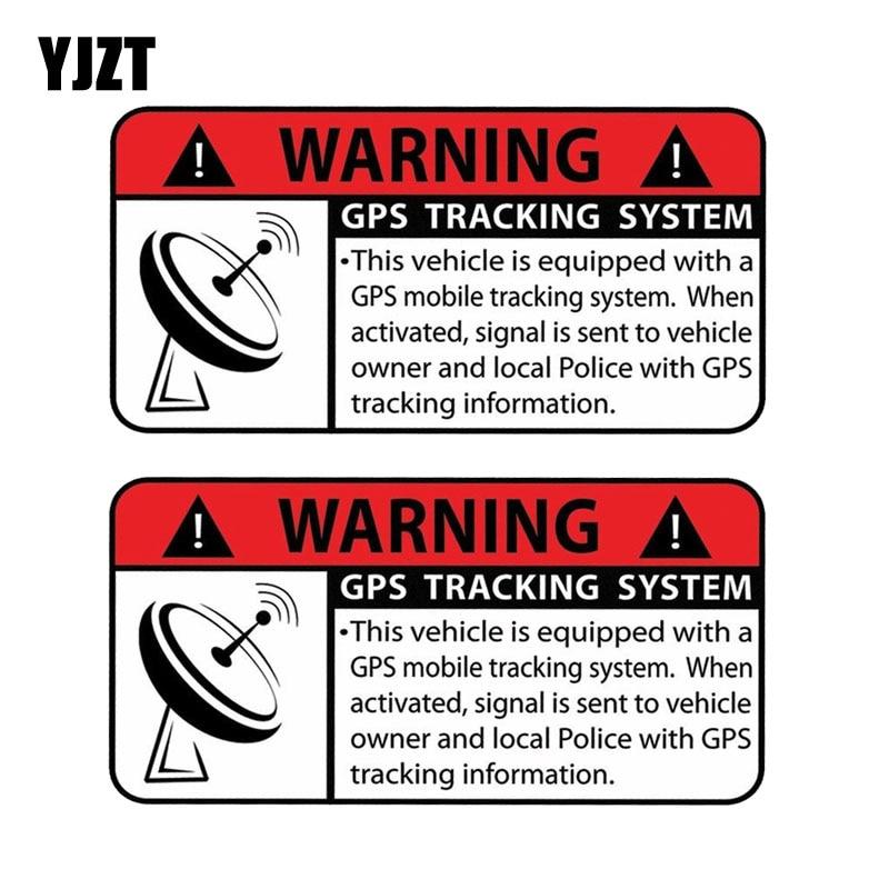 YJZT 10,2 см * 5,1 см 2X персональная Автомобильная наклейка предупреждение GPS система слежения Светоотражающая наклейка части мотоцикла C1-7592