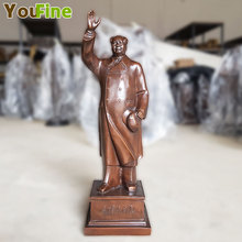 Details about 24`` Huge China Bronze Great Leader Stand Mao Ze Dong Chairman Sculpture Statue