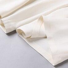 Silk High Waist Long Pants Women Summer White 5XL Wide Leg Pants