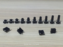1000pcs 6*6 Tact Switch Tactile Push Button Switch Kit Height: 4.3/5/6/7/8/9/10/11/12/13MM SMD micro switch 6x6 Patch Key switch