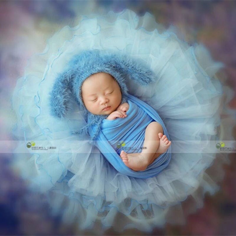 Stretch fabric Stretch jersey knit wrap Newborn photography props Blue Knit  Stretch Wrap Denim Stretch Wrap