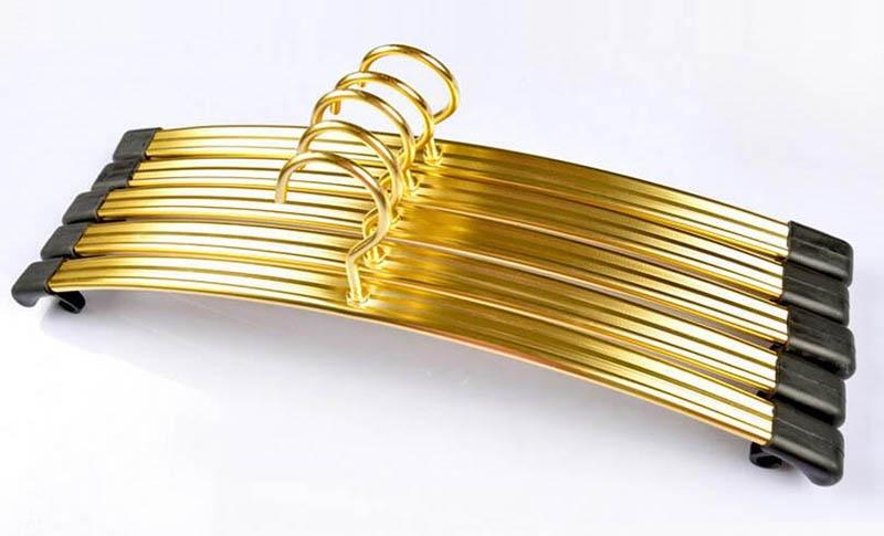 Giysi için en kaliteli Altın Gümüş Alüminyum Alaşım Askı, - Evdeki Organizasyon ve Depolama - Fotoğraf 1
