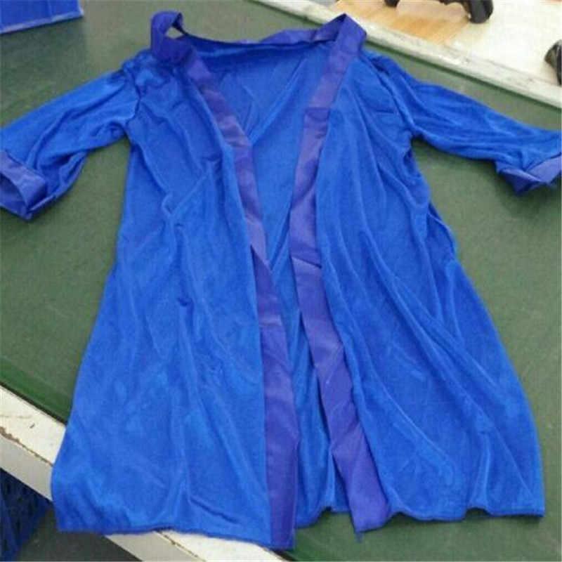 المرأة مثير فو الحرير الدانتيل الحرير طويل الجلباب جديد الأزياء باس النوم النوم فساتين الإناث حزام دون الاستحمام الجلباب الصلبة اللون