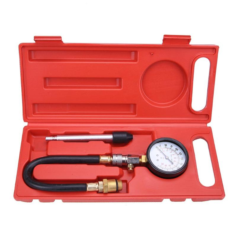 Auto Car Petrol Gas Engine Cylinder Compression Pressure Gauge Tester Kit Motor Repair Tool Car Motorcycle Pressure Gauge