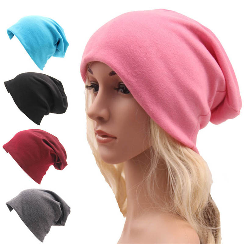 2017 knitted hats Korean street style relaxed Hat men and women Thin section turtleneck cap turban hats jxj-074