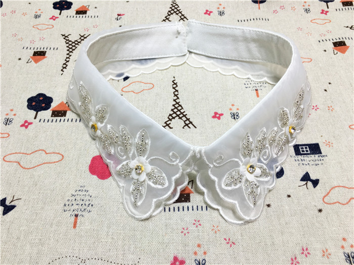Delicate Hand Latest Burst Hot Sales Fake Collar Dynamic Double Layer Yarn Collar Fashion False Collar