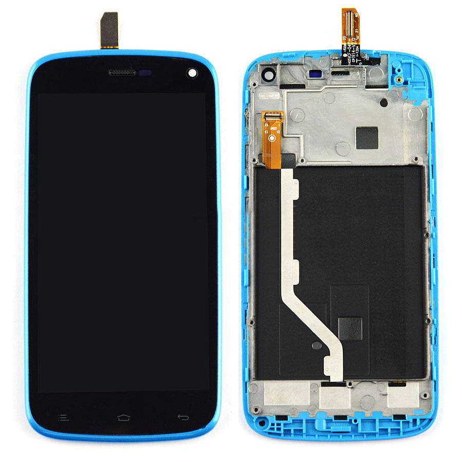 +Frame blue LCD Display + Touch Screen Digitizer Assembly Replacement For Blu Life Play L100 L100a Free Shipping