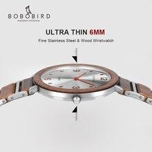 Relogio Masculino 2019 Luxury Brand BOBO BIRD Ultra-thin Quartz Wooden Watch Men