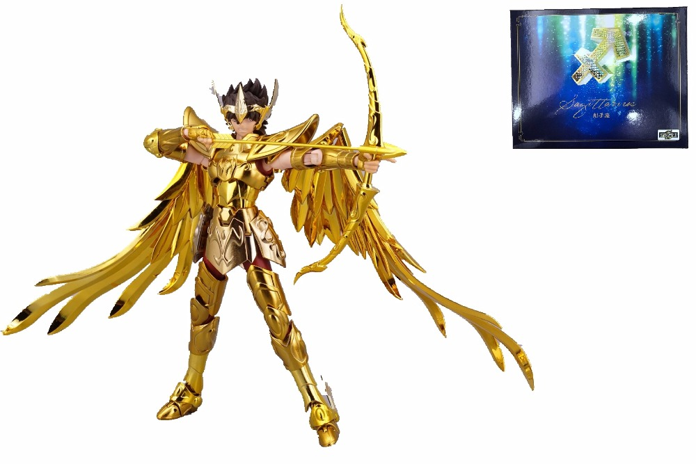 in stock Sagittarius Aiolos TV OCE GOLD Saint Seiya S-temple METAL CLUB model Myth EX Gold Saint Metal PayPal Payment model fans free shipping qq model sagittarius aiolos saint seiya ex 2 0 gold saint 80% metal cloth form with effects pieces