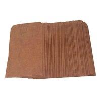 50pcs Retro Style Kraft Paper Envelops Postcard Invitation Letter Stationery Paper Bag Vintage Air Mail Gift