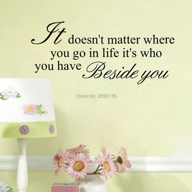 Classic English Quotes Wall Stickers It Does Not Matter Where You Go In Life  Art Lettering