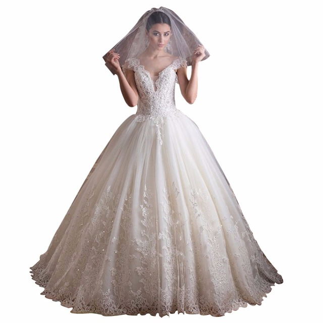 Zyllgf Bridal New Design Ball Gown Vestido De Novia Boho Puffy V