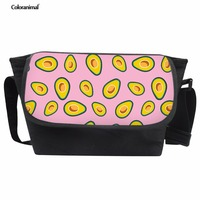 Coloranimal Cross Body for Children Kids Boys Girls Avocado Print Daily Fashion Laptop Messenger Bag Apply to 9.7 Inch Ipad Bag