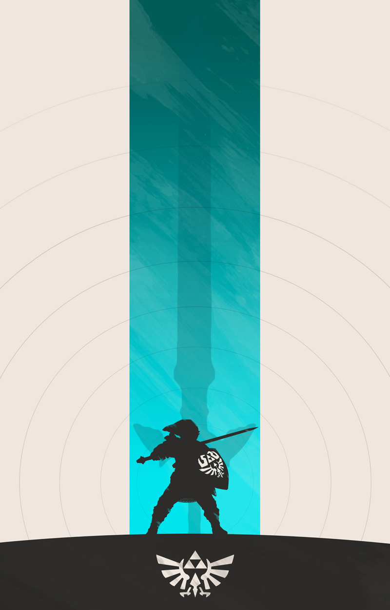 Game The Legend of Zelda Breath of The Wild Art Silk Fabric Poster 55X85 Cm New Game Pictures for Living Room Wall Decor 6 in Painting Calligraphy from Home Garden