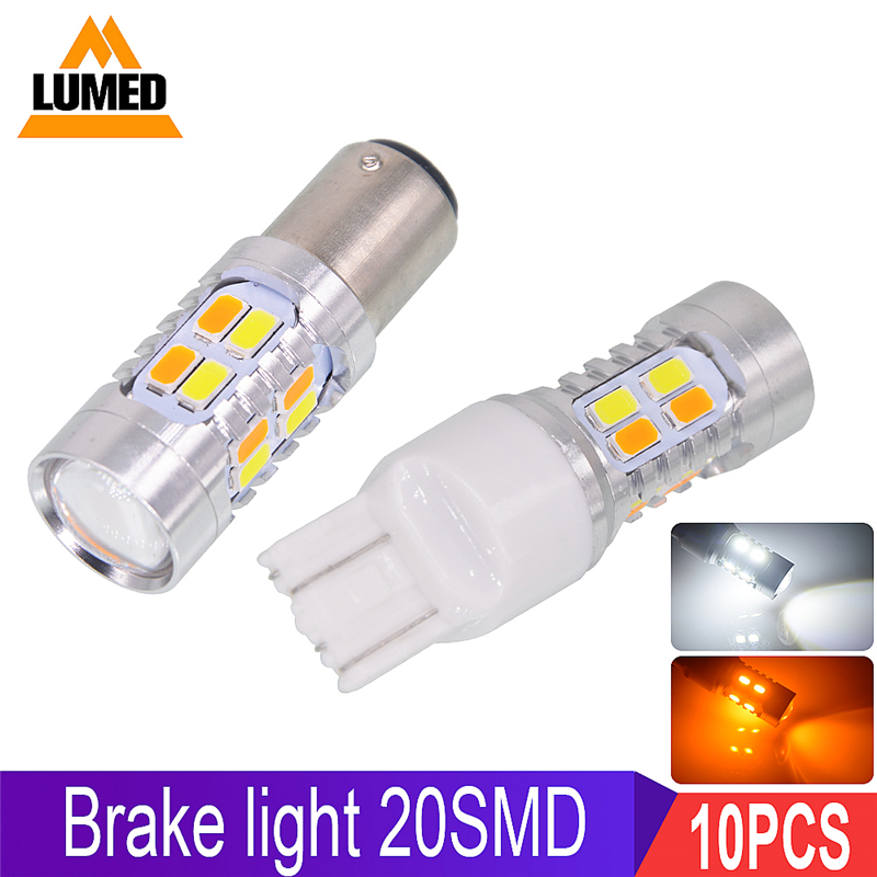 10 PCS 1157 BAY15D 4COB 42 SMD LED White 6000K Car Parking Backup Tail Light