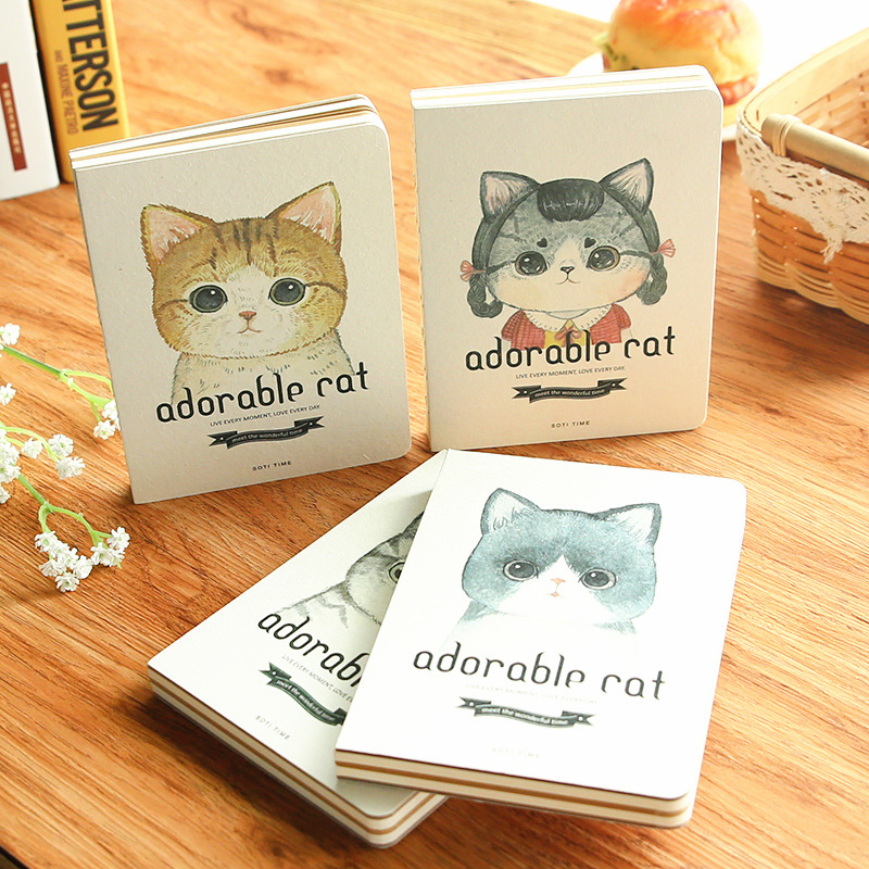 Creative stationery retro hardfacing notebook portable student diary book notebook hand account of this adorable cat bare 2017 a5 week schedule the plan diary book notebook notebook korea creative stationery diary hand account