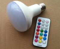 50 шт. R80 RGBW светодиодные лампочки E27 B22 85-265 В светодиодные лампы 10 Вт RGB + белый несколько Цвет с timming Дистанционное управление Lampara светодиодов